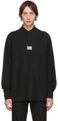 Raf Simons Black Hanging Collar Long Sleeve Polo