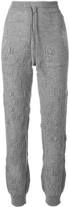 Barrie Beehive cashmere jogging trousers