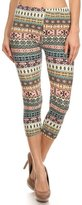E4U Women's Symbols Capri Leggings
