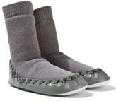 Moccis Plain Grey Moccasin Socks