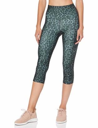 Aurique Amazon Brand Women's Printed Cropped Sports Leggings