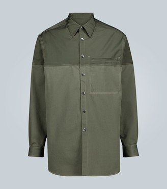 Valentino Long-sleeved topstitched shirt