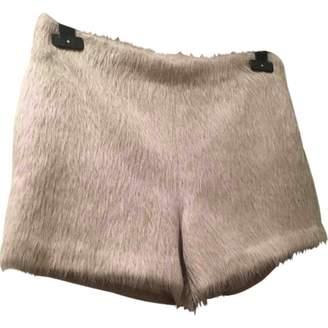 Anne Valerie Hash Ecru Wool Shorts
