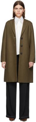 Harris Wharf London Brown Pressed Wool Coat