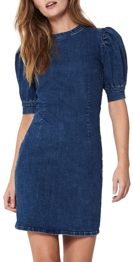Thumbnail for your product : Only Lindy Life Short Sleeve Denim Dress
