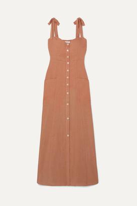Josie Honorine Linen Maxi Dress - Tan