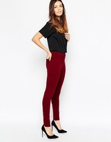 French Connection Hells Ponte Leggings in Berry