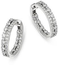 Bloomingdale's Diamond Inside Out Hoop Earrings in 14K White Gold, 2.0 ct. t.w. - 100% Exclusive