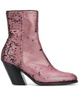 A.F.Vandevorst sequined ankle boots - women - Leather/Polyester - 39
