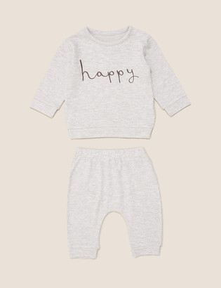 Marks and Spencer 2 Piece Super Soft Happy Outfit (0-3 Yrs)