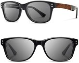 Shwood Men's 'Cannon' 54Mm Polarized Acetate & Wood Sunglasses - Black/ Elm Bur/ Grey