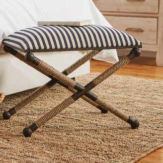Beachcrest Home Brunon Metal Upholstered Vanity Stool