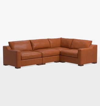 Rejuvenation Sublimity Studio 4-Piece Leather Sectional Sofa