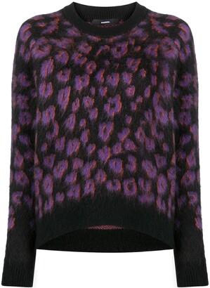 Diesel Leopard-Print Textured Sweater