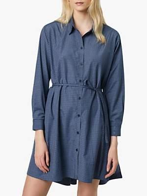 French Connection Mattia Check Cotton Dress, Blue