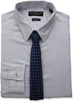 Nick Graham Men's Check Cotton Dress Shirt with Tie