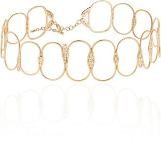 Fernando Jorge Fluid Chain Diamond 18K Yellow Gold Choker