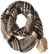 La Fiorentina Women's Soft Knit Snood Scarf with Tassel
