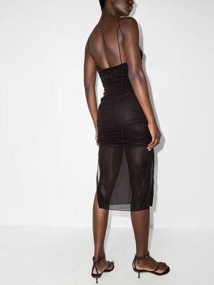 Supriya Lele Ruched-Detail Sheer Dress