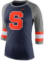 Nike Women's Syracuse Orange Team Stripe Logo Raglan T-Shirt