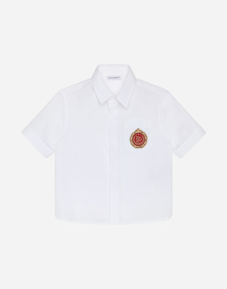 Dolce & Gabbana Poplin Shirt With Medal Patch