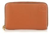 Loewe Logo-debossed Zip-around Leather Cardholder