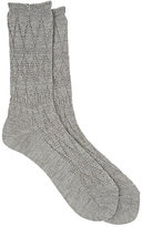 Antipast Men's Lace-Patterned Mid-Calf Socks