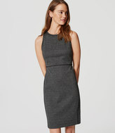 LOFT Houndstooth Sheath Dress