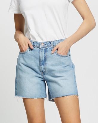Nobody Denim Women's Blue Denim - Stevie Shorts - Size 24 at The Iconic