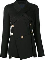 Proenza Schouler asymmetric raw edge blazer - women - Cotton/Wool - 4