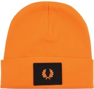 Fred Perry Acid Brights Logo Beanie Hat Orange