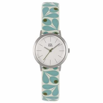 Orla Kiely Womens Analogue Classic Quartz Watch with Leather Strap OK2317