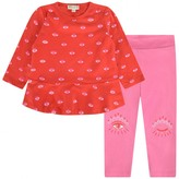 Kenzo KidsGirls Red Eyes Top & Leggings Set