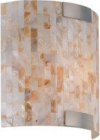 Lite Source Schale Shell Glass Mosaic Sconce