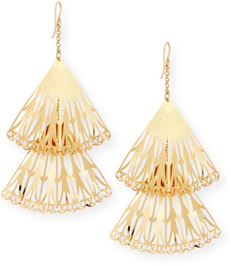 Devon Leigh Double Fan Drop Earrings