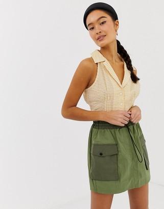 Emory Park sleeveless blouse in gingham