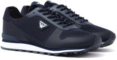 Armani Jeans Navy Mesh Trainers
