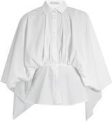 Palmer Harding PALMER/HARDING Open-back gathered-waist cotton-blend shirt