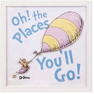 Patton Wall Decor Dr. Seuss Oh The Places You'll Go 12x12 Framed Print On Glass Wall Art