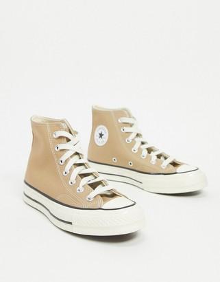 Converse Chuck 70 hi trainers in beige