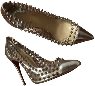 Christian Louboutin So Kate Silver Plastic Heels
