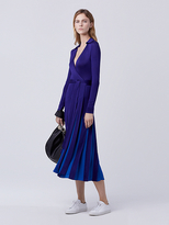 Diane von Furstenberg Stevie Pleated Wrap Dress