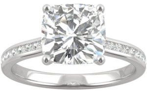 Charles & Colvard Moissanite Cushion Engagement Ring (2-5/8 ct. t.w. Dew) in 14k White Gold