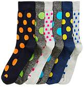 Capsule Pack of 6 Mixed Spot Socks
