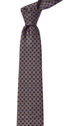 Salvatore Ferragamo Smoke Grey Gancini Silk Tie