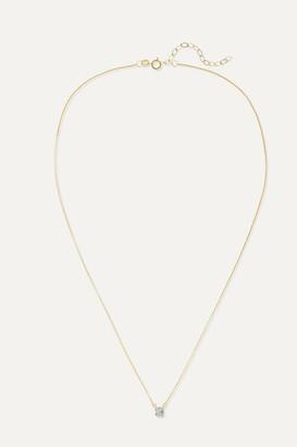 STONE AND STRAND Shield Of Strength 14-karat Gold Diamond Necklace