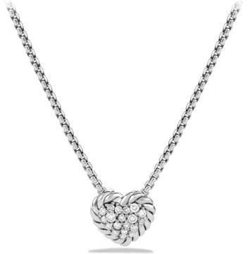 David Yurman Petite Pave Heart Pendant Necklace With Diamonds