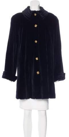 Valentino Sheared Mink Fur Coat