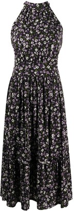 MICHAEL Michael Kors Flared Floral-Print Dress