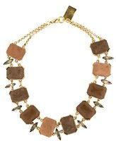 Lizzie Fortunato Suede Stone Necklace